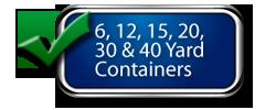 Mini-Load Disposal Has 6, 12, 15, 20, 30, 40 Yard Bins Available